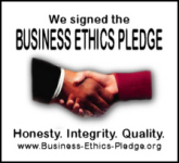 Sign the pledge for ethical business practices.